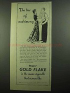 1939 Wills's Gold Flake Cigarette Ad, Ties of Matrimony