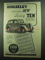 1939 Wolseley Luxury Ten Car Ad