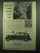 1939 Daimler Six-Light Saloon Ad - This Traffic Driving