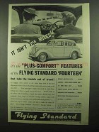 1939 Flying Standard Fourteen Touring Saloon Ad