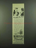 1939 Martini Vermouth Ad - In a Glass By Itself
