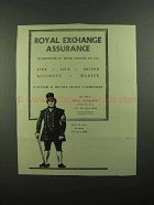 1939 Royal Exchange Assurance Ad