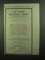 1939 Chase National Bank Ad