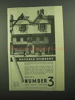 1939 Player's Number 3 Cigarettes Ad - Notable Numbers