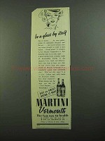 1939 Martini Vermouth Ad - In Glass By Itself