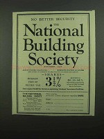 1939 National Building Society Ad - No Better Security