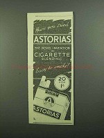 1939 State Express Astorias Cigaretes Ad - You Tried