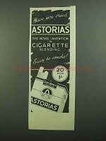 1939 State Express Astorias Cigaretes Ad - Tried?