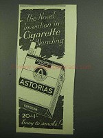 1939 State Express Astorias Cigaretes Ad - Novel