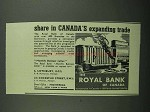 1939 The Royal Bank of Canada Ad - Expanding Trade