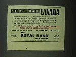1939 The Royal Bank of Canada Ad - Keep in Touch