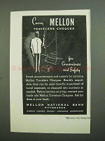 1939 Mellon National Bank Ad - Carry Travelers Cheques