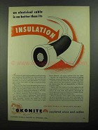 1950 Okonite Insulated Wires and Cables Ad