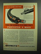1950 Okonite Okolite-Okoprene Cables Ad
