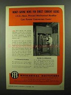 1950 I-T-E Mechanical Rectifiers Ad - Money-Saving News