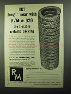 1950 Raybestos-Manhattan 920 Flexible Packing Ad