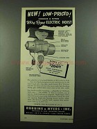 1950 Robbins & Myers Wire Rope Electric Hoist J-1 Ad