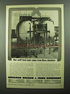 1950 Chicago Bridge & Iron Company Ad - Soft Feed Water