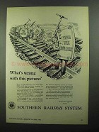 1950 Southern Railway System Ad - What's Wrong