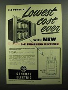 1950 General Electric Pumpless Rectifier Ad