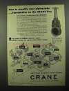 1950 Crane 25-Pound Iron Body Double Disc Gates Ad