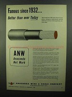 1950 Anaconda ANW-Insulated Cable Ad - Famous