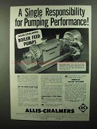 1950 Allis-Chalmers Boiler Feed Pumps Ad