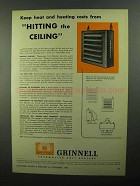 1950 Grinnell Thermolier Unit Heaters Ad - Keep Costs