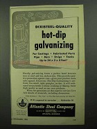 1950 Atlantic Steel Company Ad - Hot-Dip Galvanizing