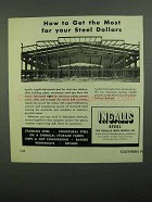 1950 Ingalls Steel Ad - Get the Most For Your Dollars