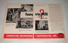 1950 Combustion Engineering Boilers Ad - Planning?