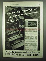 1937 York Vertical Trunk Freezing System Ad - This Coil
