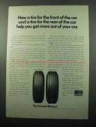 1969 Uniroyal Masters Tires Ad - Get More Out of Car