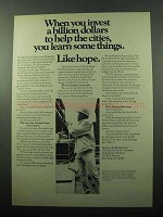 1969 Institute of Life Insurance Ad - Invest a Billion