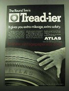 1969 Atlas Plycron Tires Ad - Round Tire is Tread-ier