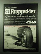 1969 Atlas Plycron Tires Ad - Round Tire is Rugged-ier