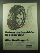 1969 Atlas Weathergard Tire Ad - Thinks It's Snow Plow