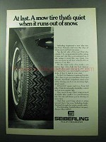 1969 Seiberling Four Seasons Tire Ad - Snow Tire Quiet