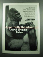 1969 Armstrong Fatso Tire Ad - The Whole World Loves