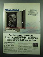 1969 Firestone Town & Country Tire Ad - Strong Snow