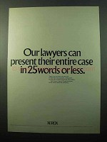 1969 Xerox Copiers Ad - Our Lawyers Present Their Case