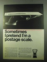 1969 Pitney-Bowes Mail Scale Ad - Sometimes I Pretend