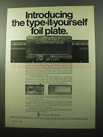 1969 Pitney-Bowes Addresser-Printer AD - Foil Plate