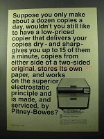 1969 Pitney-Bowes Model 252 Copier Ad - Dozen a Day