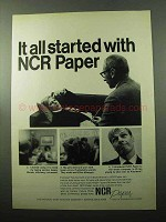 1969 NCR Paper Ad - It All Started With NCR Paper