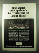 1969 Hammermill Bond Paper Ad - Treating Ills of Cities