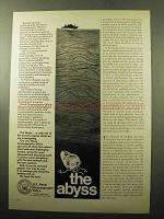 1969 U.S. Naval Oceanographic Office Ad - The Abyss