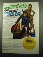 1969 Nemrod Scuba Gear Ad - Treasure Hunt Adventure