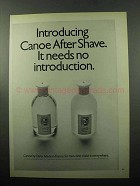 1969 Dana Canoe After Shave Ad - No Introduction