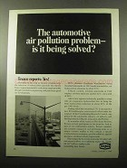 1969 Texaco Oil Ad - Automotive Air Pollution Solved